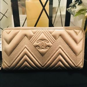 Chanel chevron large wallet